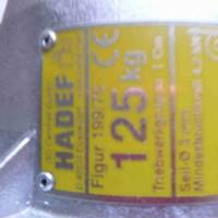 Hadef 70/06 APP气动葫芦滑动联轴器保护设备